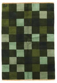Γκάμπεθ Indo Χαλι 142X203 Σύγχρονα Χειροποιητο Σκούρο Πράσινο/Λαδί (Μαλλί, Ινδικά)