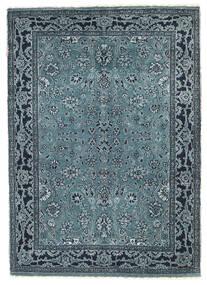 Γκάμπεθ Loribaft Χαλι 90X127 Σύγχρονα Χειροποιητο Μπλε/Σκούρο Μπλε/Ανοιχτό Γκρι (Μαλλί, Ινδικά)
