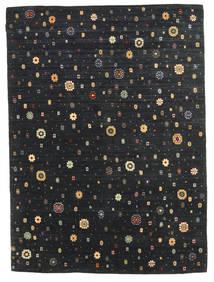 Γκάμπεθ Indo Χαλι 173X240 Σύγχρονα Χειροποιητο Μαύρα (Μαλλί, Ινδικά)