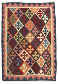 Κιλίμ Χαλι 103X150 Ανατολής Χειροποίητη Ύφανση Σκούρο Γκρι/Σκούρο Κόκκινο (Μαλλί, Περσικά/Ιρανικά)