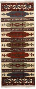 Turkaman Χαλι 87X210 Ανατολής Χειροποιητο Χαλι Διαδρομοσ Σκούρο Καφέ/Ανοιχτό Καφέ (Μαλλί, Περσικά/Ιρανικά)