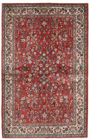 Sarough Χαλι 132X206 Ανατολής Χειροποιητο Σκούρο Κόκκινο/Μπεζ (Μαλλί, Περσικά/Ιρανικά)