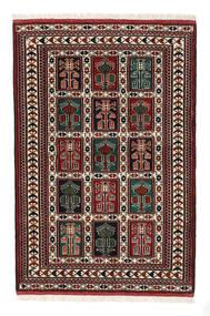 Turkaman Χαλι 98X146 Ανατολής Χειροποιητο Σκούρο Καφέ/Σκούρο Κόκκινο (Μαλλί, Περσικά/Ιρανικά)