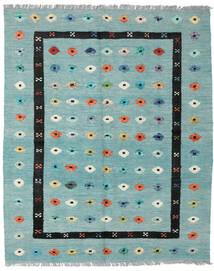 Κιλίμ Nimbaft Χαλι 157X200 Σύγχρονα Χειροποίητη Ύφανση Παστέλ Πράσινο/Τυρκουάζ Μπλε (Μαλλί, Αφγανικά)