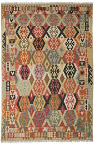 Κιλίμ Afghan Old Style Χαλι 205X311 Ανατολής Χειροποίητη Ύφανση Σκούρο Κόκκινο/Σκούρο Μπεζ (Μαλλί, Αφγανικά)