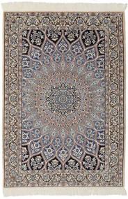 Nain 9La Χαλι 95X146 Ανατολής Χειροποιητο Μαύρα/Σκούρο Καφέ (Μάλλινα/Μεταξωτά, Περσικά/Ιρανικά)