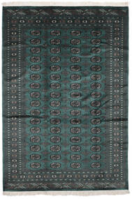 Pakistan Μπουχαρα 2Ply Χαλι 169X245 Ανατολής Χειροποιητο Μαύρα/Σκούρο Τυρκουάζ (Μαλλί, Πακιστανικά)