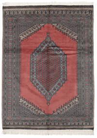 Pakistan Μπουχαρα 2Ply Χαλι 133X180 Ανατολής Χειροποιητο Μαύρα/Kόκκινα (Μαλλί, Πακιστανικά)