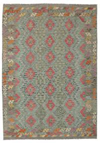 Κιλίμ Afghan Old Style Χαλι 177X248 Ανατολής Χειροποίητη Ύφανση Σκούρο Πράσινο (Μαλλί, Αφγανικά)