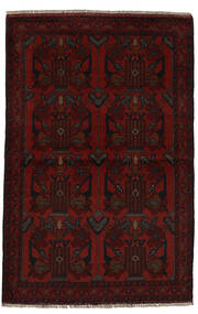 Afghan Khal Mohammadi Χαλι 96X153 Ανατολής Χειροποιητο Μαύρα (Μαλλί, Αφγανικά)