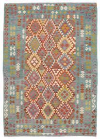 Κιλίμ Afghan Old Style Χαλι 172X240 Ανατολής Χειροποίητη Ύφανση Σκούρο Πράσινο/Σκούρο Καφέ (Μαλλί, Αφγανικά)